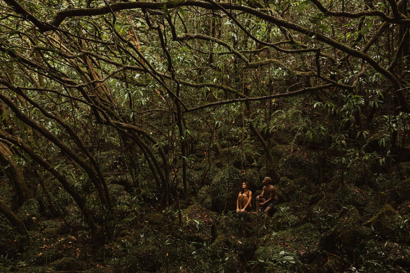 Couple session under the rain, Reunion Island
